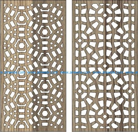 circular baffle pattern file cdr and dxf free vector download for Laser cut CNC