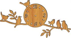 clock on a tree branch file cdr and dxf free vector download for Laser cut plasma