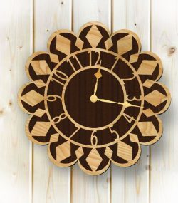 clock shaped sunflower file cdr and dxf free vector download for Laser cut plasma