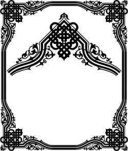 corner decoration file cdr and dxf free vector download for printers or laser engraving machines