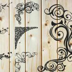 corner decorative pattern free vector download for print or laser engraving machines
