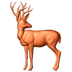deer picture file stl free vector art 3d model download for CNC