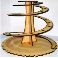 display shelves of spiral cakes free vector download for Laser cut CNC