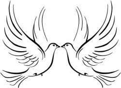 double pigeon symbol of fidelity file cdr and dxf free vector download for printers or laser