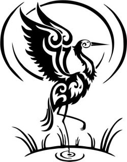 egret icon file cdr and dxf free vector download for printers or laser engraving machines