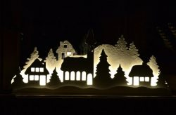 electricity pictures shaped Christmas house free vector download for Laser cut CNC