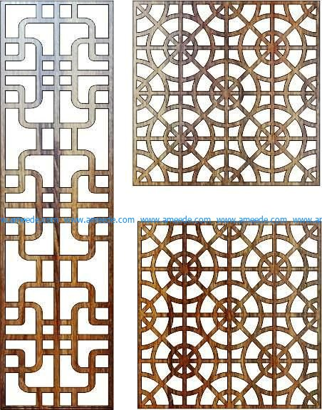 feng shui bulkhead file cdr and dxf free vector download for Laser cut CNC