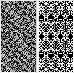 floral motifs and water droplets pratition file cdr and dxf free vector download for Laser cut CNC