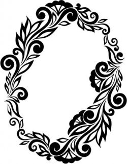 floral wreath file cdr and dxf free vector download for printers or laser engraving machines