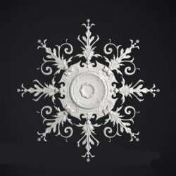 flower Rosette Ceiling 3ds Max Scene File free 3D Image download for CNC