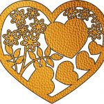 flower heart file cdr and dxf free vector download for Laser