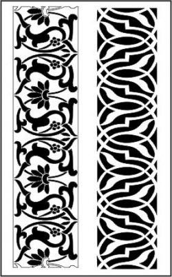 flower seamless file cdr and dxf free vector download for CNC cut