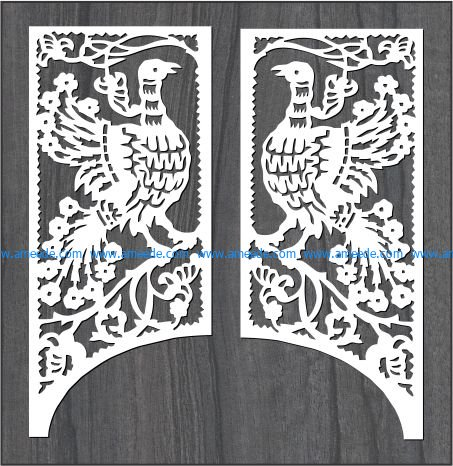 gangster rooster pattern file cdr and dxf free vector download for Laser cut CNC