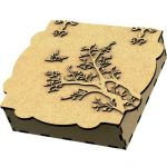 gift box shaped apricot tree file cdr and dxf free vector download for Laser cut CNC