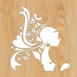 girl sweet teen file cdr and dxf free vector download for Laser cut plasma