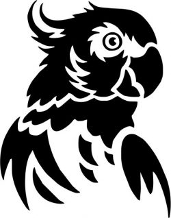 green parrot head file cdr and dxf free vector download for printers or laser engraving machines