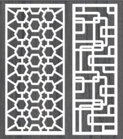 honeycomb partitions and modern meandering roads free vector download for Laser CNC