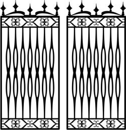 iron barn fence file cdr and dxf free vector download for Laser cut plasma