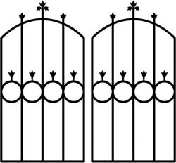 iron door shaped circle file cdr and dxf free vector download for Laser cut plasma
