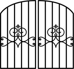iron fence gate file cdr and dxf free vector download for Laser cut plasma