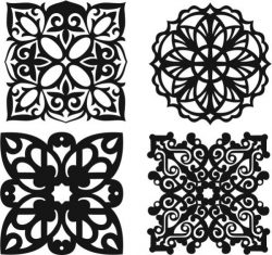 islamic motif creation file cdr and dxf free vector download for Laser cut Plasma