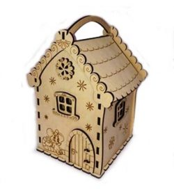 Mouse house candy box file cdr and dxf free vector download for Laser cut Plasma file Decal