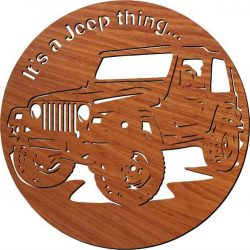 jeep Car wall clock file cdr and dxf free vector download for Laser cut plasma