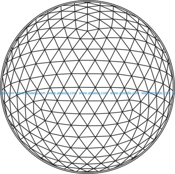 led light 3d shaped sphere file cdr and dxf free vector download for printers or laser engraving machines
