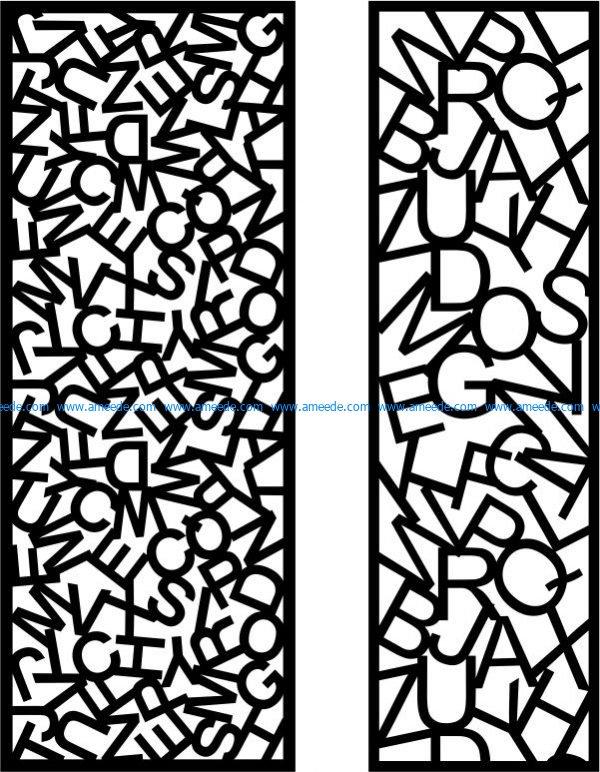 letterhead septum free vector download for Laser cut CNC