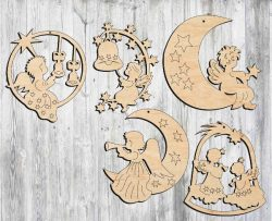 little angel file cdr and dxf free vector download for Laser cut