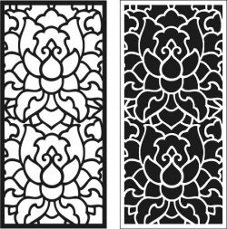 lotus shaped partition file cdr and dxf free vector download for Laser cut CNC