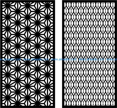 lozenge partition file cdr and dxf free vector download for Laser cut plasma