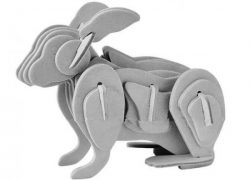 3D Rabbit puzzlefile cdr and dxf free vector download for Laser cut CNC