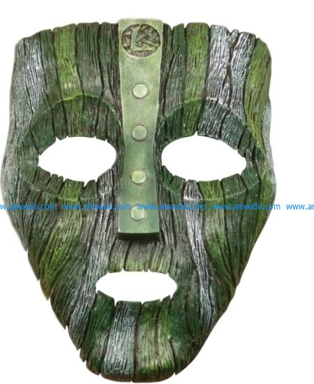 mask loki file cdr and dxf free vector download for Laser cut