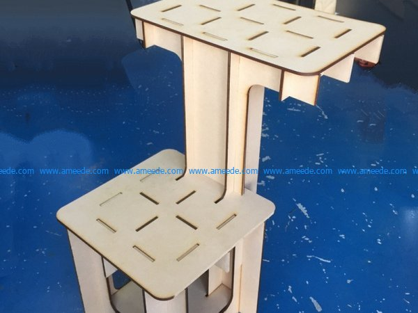 mdf wooden bracket file cdr and dxf free vector download for Laser cut CNC