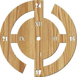 millennium wall clock file cdr and dxf free vector download for Laser cut plasma