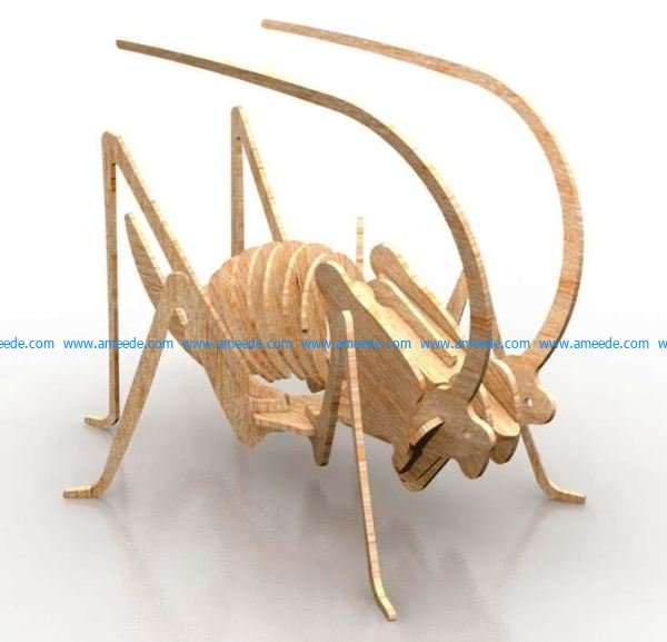 model of cricket assembly file cdr and dxf free vector download for Laser cut CNC