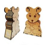 mouse-shaped box file cdr and dxf free vector download for Laser cut CNC