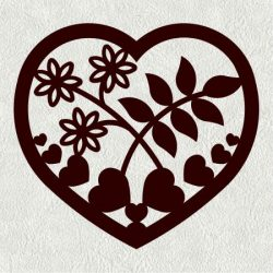 mussel heart weed flower file cdr and dxf free vector download for Laser cut CNC