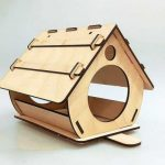 nesting houses to house birds file cdr and dxf free vector download for Laser cut CNC