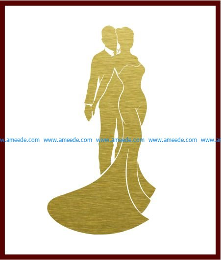 newlyweds file cdr and dxf free vector download for Laser