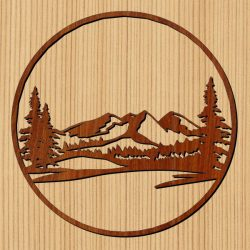 northern mountain forest file cdr and dxf free vector download for Laser cut CNC