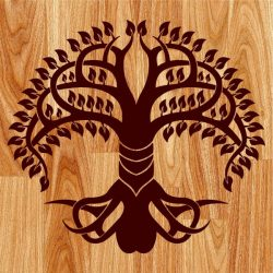 octopus shaped tree file cdr and dxf free vector download for print or laser engraving machines