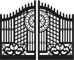 old french gate file cdr and dxf free vector download