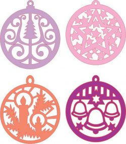 orbs hanging from the pine tree file cdr and dxf free vector download for Laser cut CNC