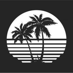 palm tree image file cdr and dxf free vector download for Laser cut Plasma file Decal