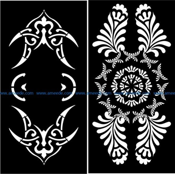 partition of arab screen file cdr and dxf free vector download for Laser cut CNC