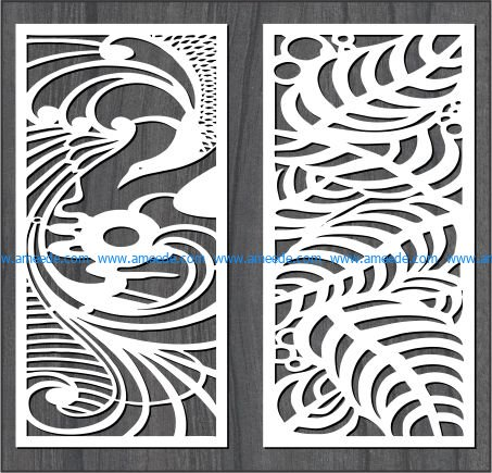 phoenix and the leaves file cdr and dxf free vector download for Laser cut CNC