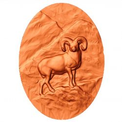 picture of a mountain goat standing on a cliff file stl free vector art 3d download for CNC