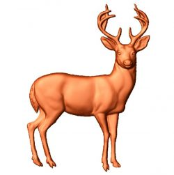 picture of the leading deer file stl free vector art 3d model download for CNC